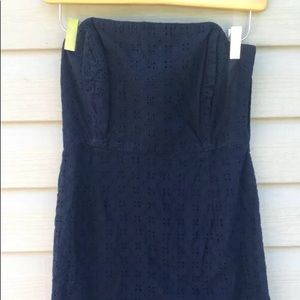 Vineyard Vines Women's Size 4 Navy Eyelet Dress